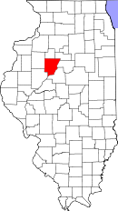 map of Il. highlighting Peoria